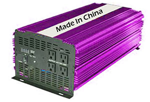 Chinese made off grid inverter.